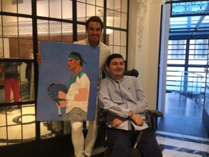 A surprise for the tennis Star