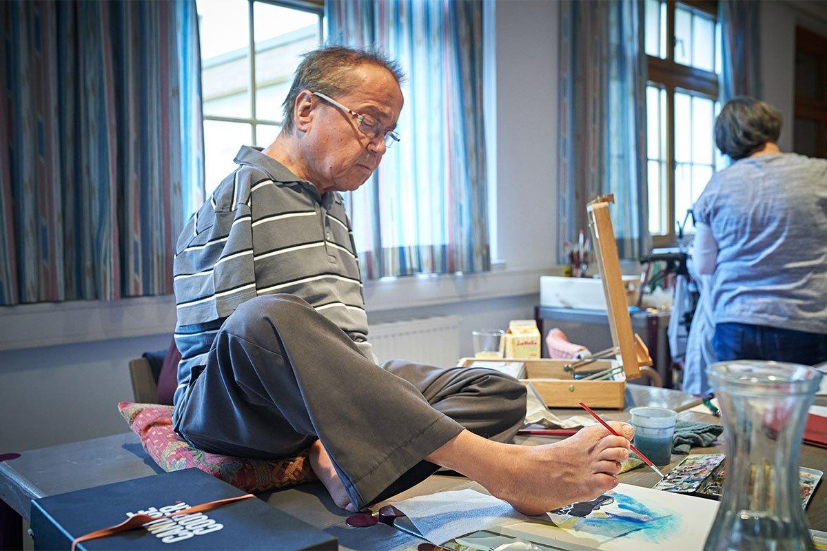 Heinz Halwachs; Fussmaler aus Österreich