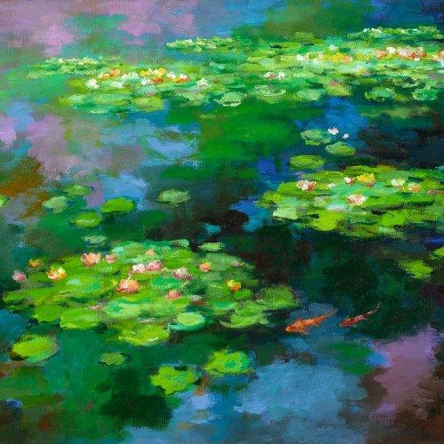 """""""Seeblumen + Fische im Teich"""" - Kun-Shan HSIEH"""