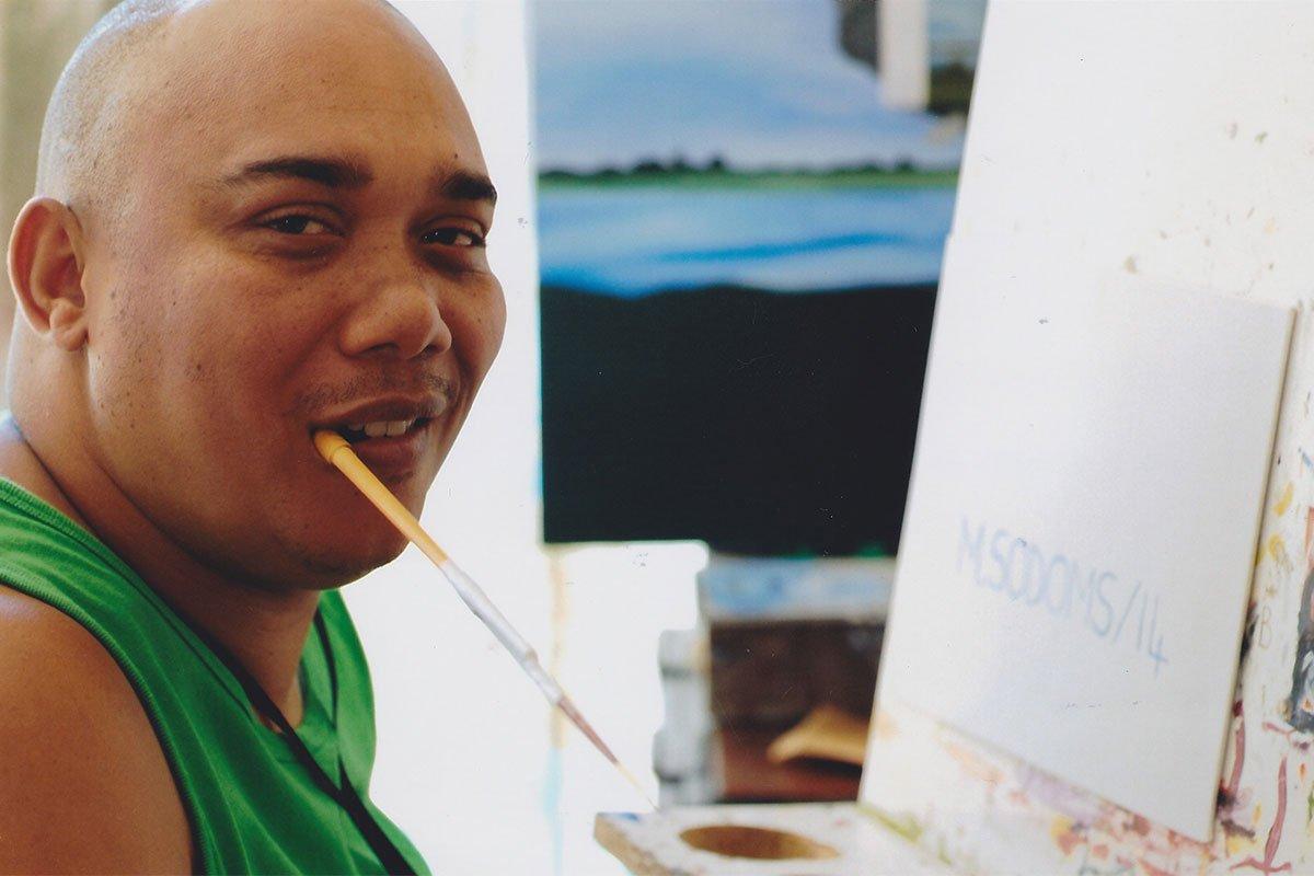 Martin Charl; Mundmaler aus Südafrika
