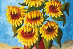 HOLZAPFEL - Sonnenblumen in der Vase